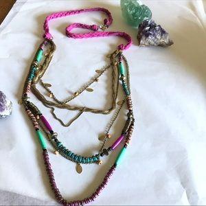 Loft | Braided Boho Multi-Strand Necklace